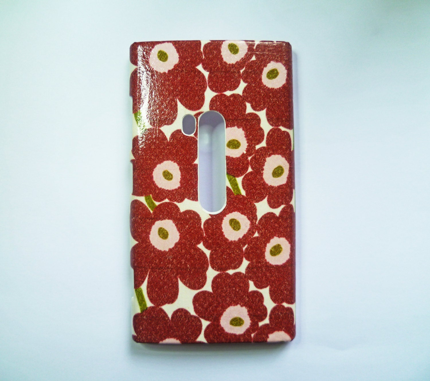 Marimekko Maroon Flowers iPhone 44s55s Cover Samsung Galaxy S4 Young Case Abstract Nokia Lumia 521920925 Case HTC One M7XS Case
