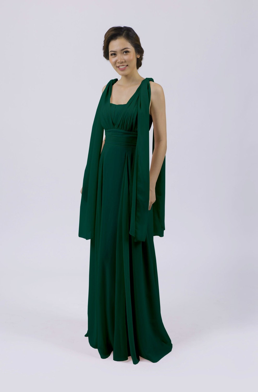 Matchimony Forest Green Multiway Long BridesmaidProm Dress (12 Styles)