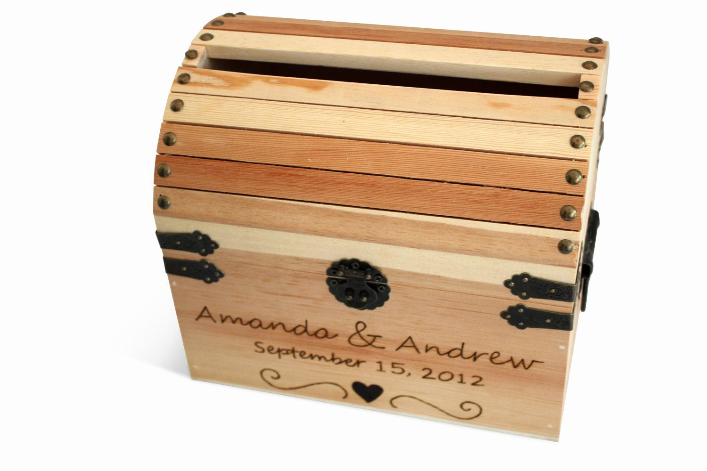 Wedding Card Box treasure chest treasure box by naturallyaspen