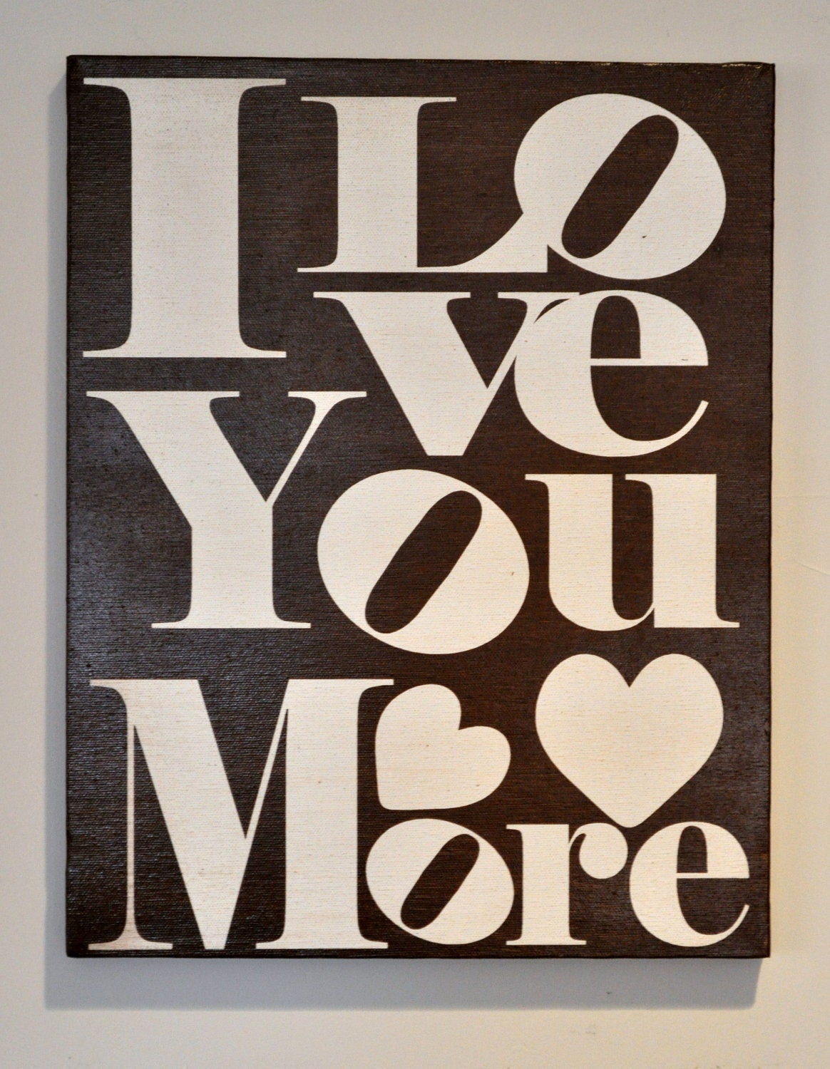 i love you more fun expressive word canvas by. Black Bedroom Furniture Sets. Home Design Ideas