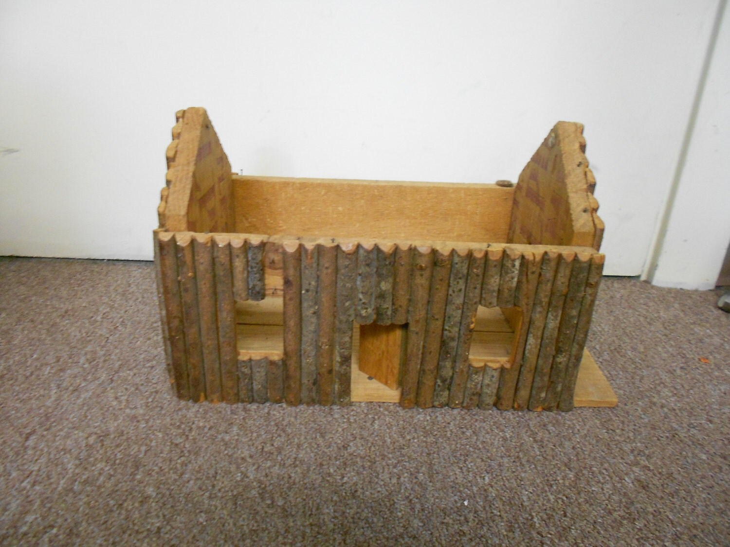 Vintage Dollhouse Log Cabin Homemade By 247overstock On Etsy