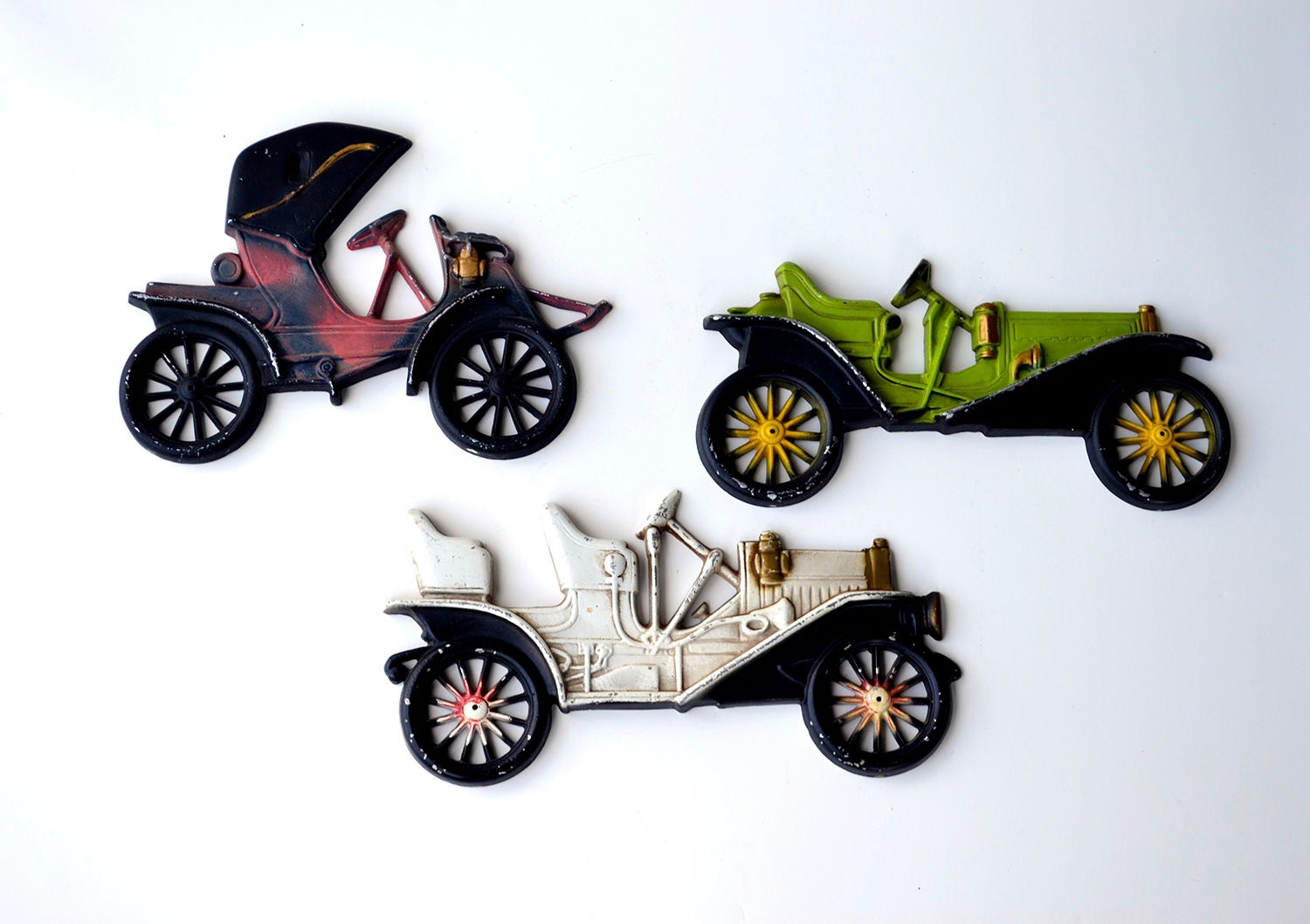 items similar to vintage car wall decor three wall plaques