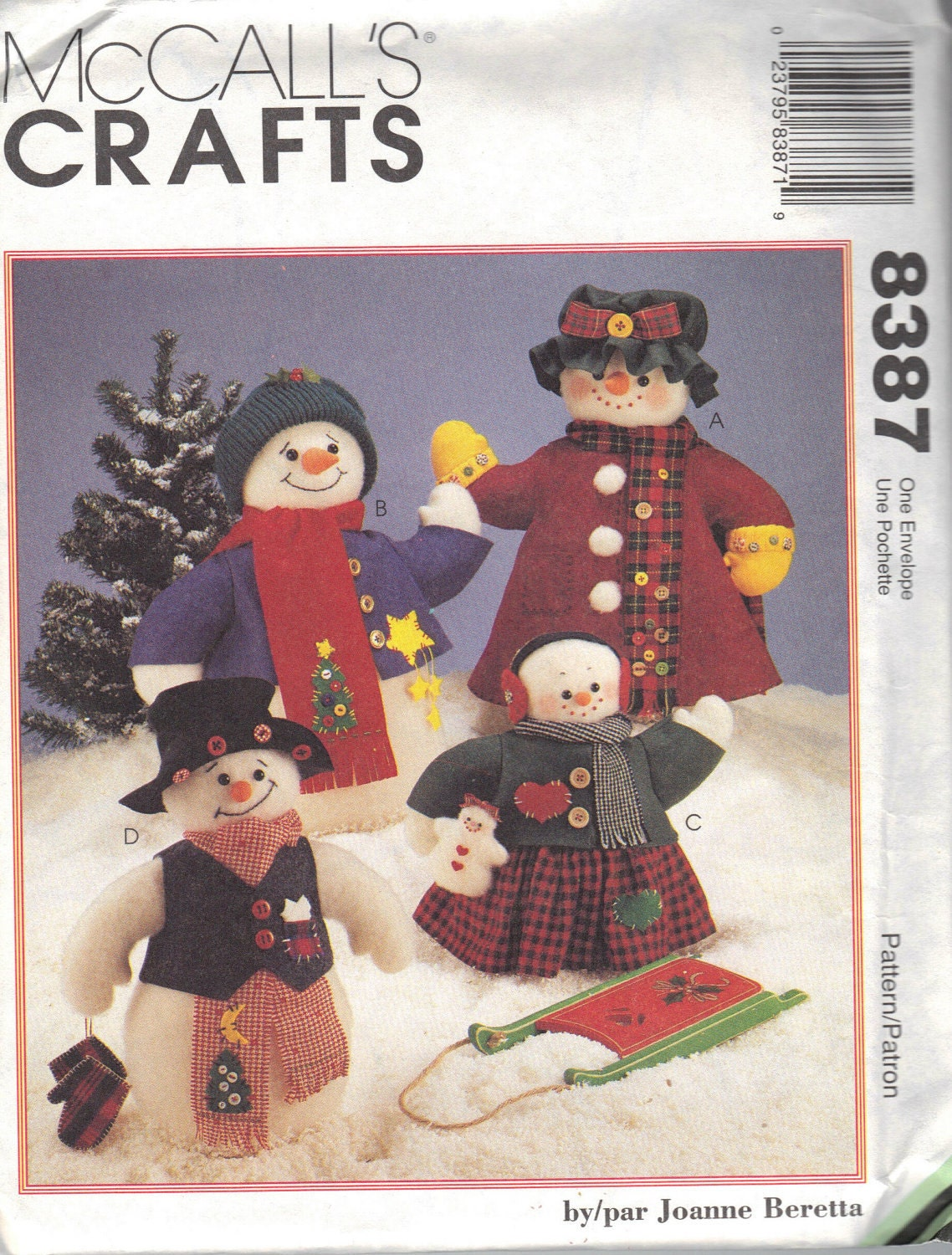 Vintage Sewing McCall's Christmas Craft Patterns