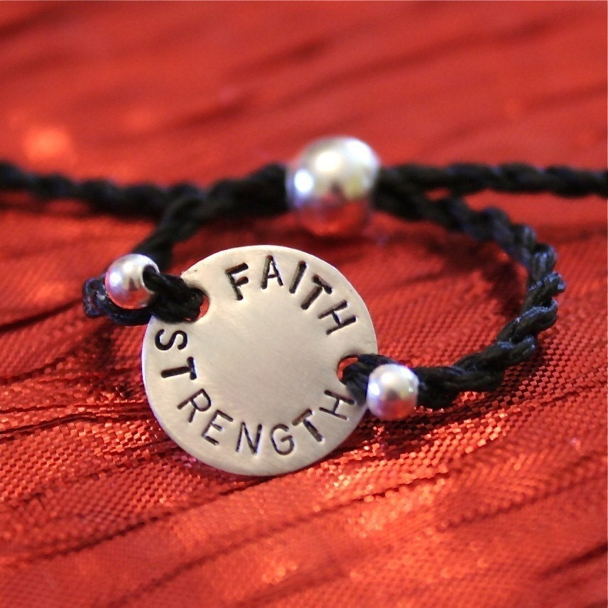 Faith and Strength Sterling Silver Charms of Faith Bracelet - CharmsofFaith