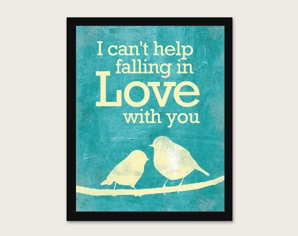 I Can 39 T Help Falling In Love With You By Meganrene On Etsy