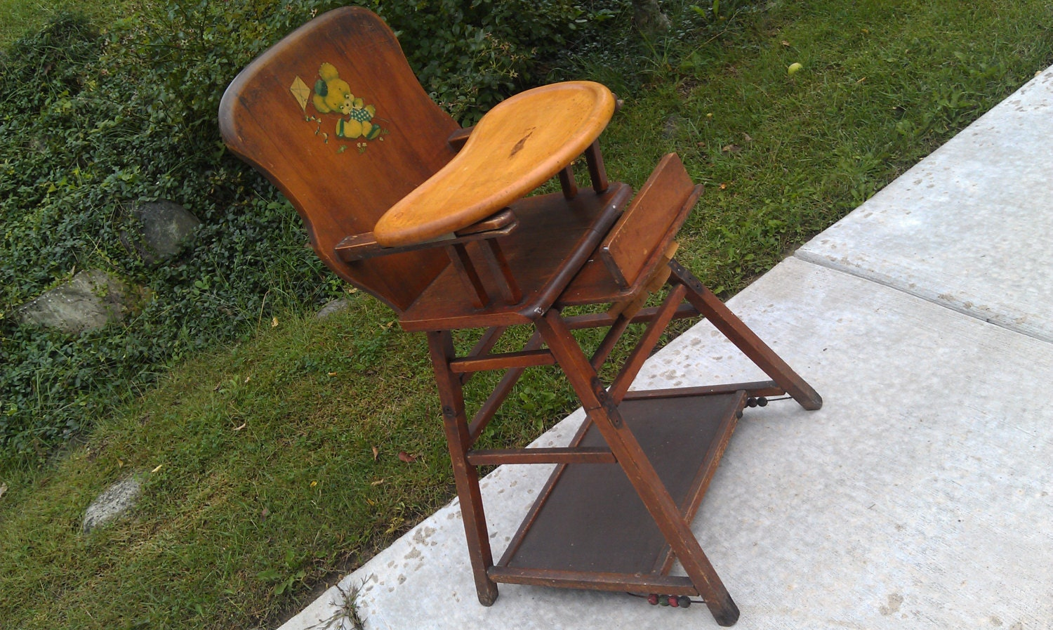 Antique Keppner Baby High Chair RESERVED for by energyforthesoul
