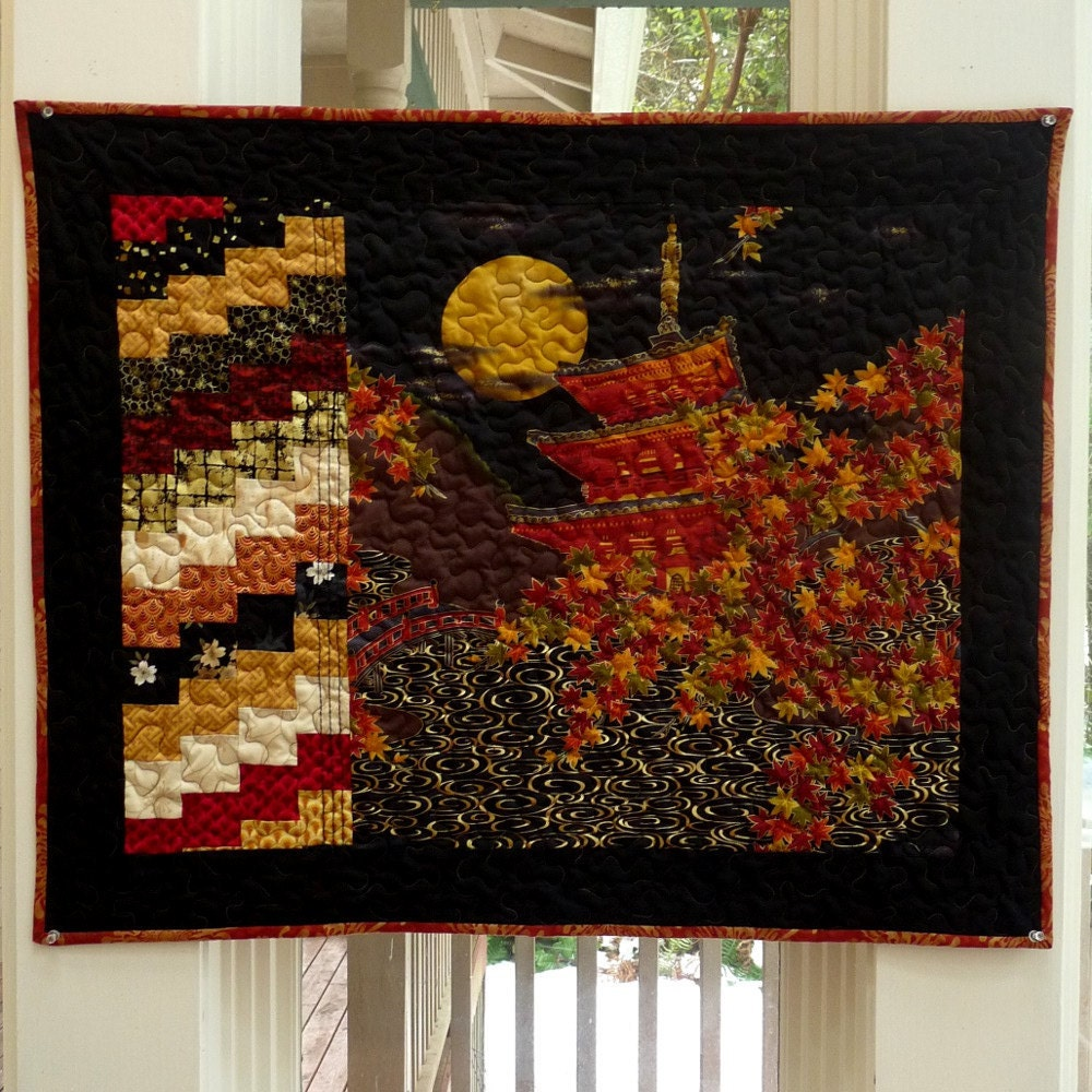 Items Similar To Asian Quilt Wall Hangings Art Quilts