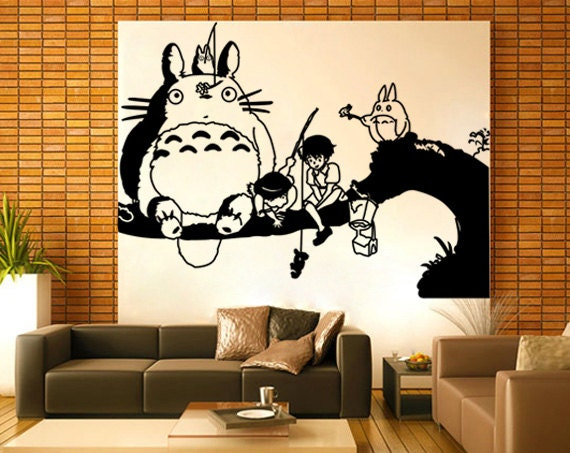 my neighbor totoro and whale rider vinyl wall art decal wd530