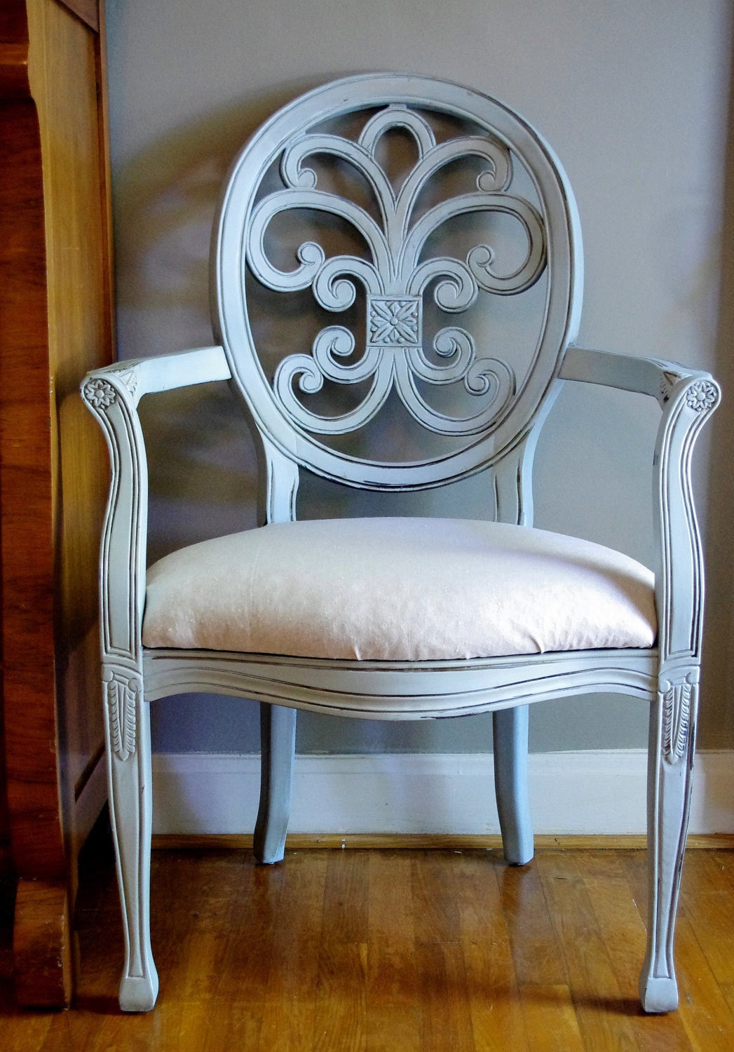 sold Robins Egg Blue French Chair - aSouthernStory