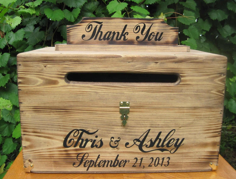 Large Rustic Wedding Card Box Keepsake Chest By Dlightfuldesigns