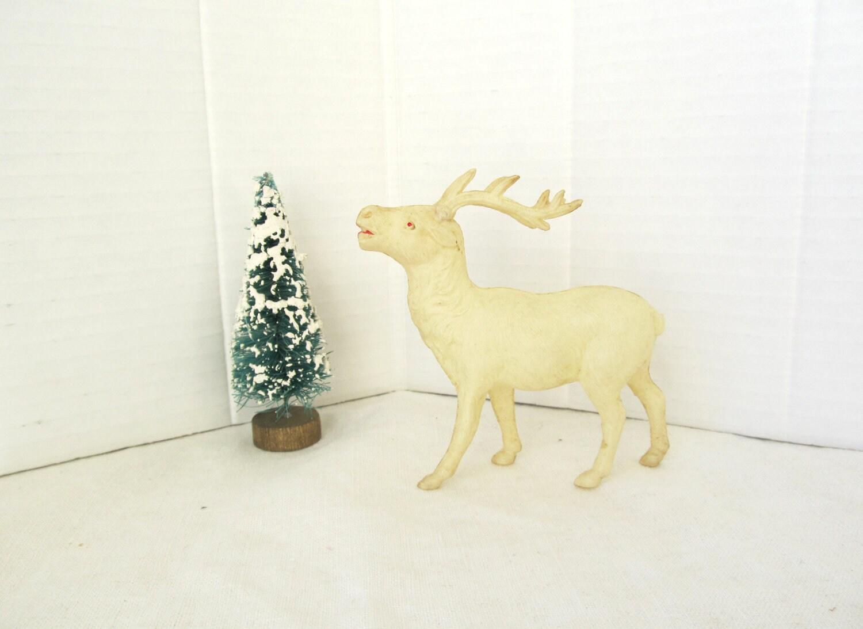 Vintage Celluloid  Reindeer - allthingswhite