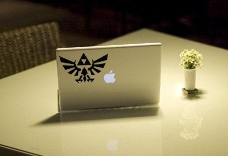 Zelda symbol logo Anime Decal for Macbook, Laptop, iPad, iPhone, Car, Windows, Wall, Nintendo 3ds, XBox, Playstation etc
