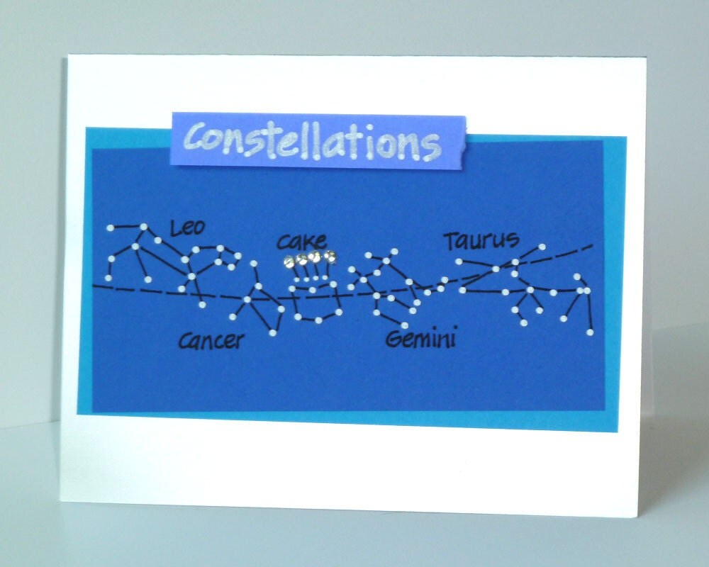 Funny Birthday Constellation Card