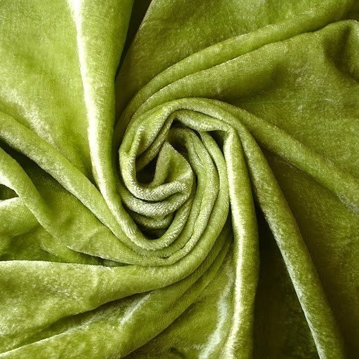 Lime Green Velvet Fabric Yardage Commercial Fabric By