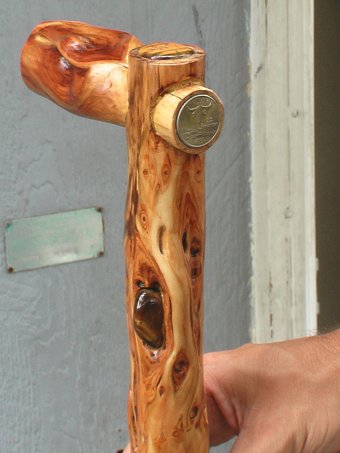 Diamond Willow Cane Inset Natural Handle By