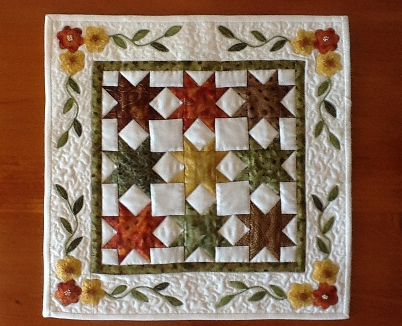 Miniature Quilt Pattern Sawtooth Star By Anniesquiltcraft