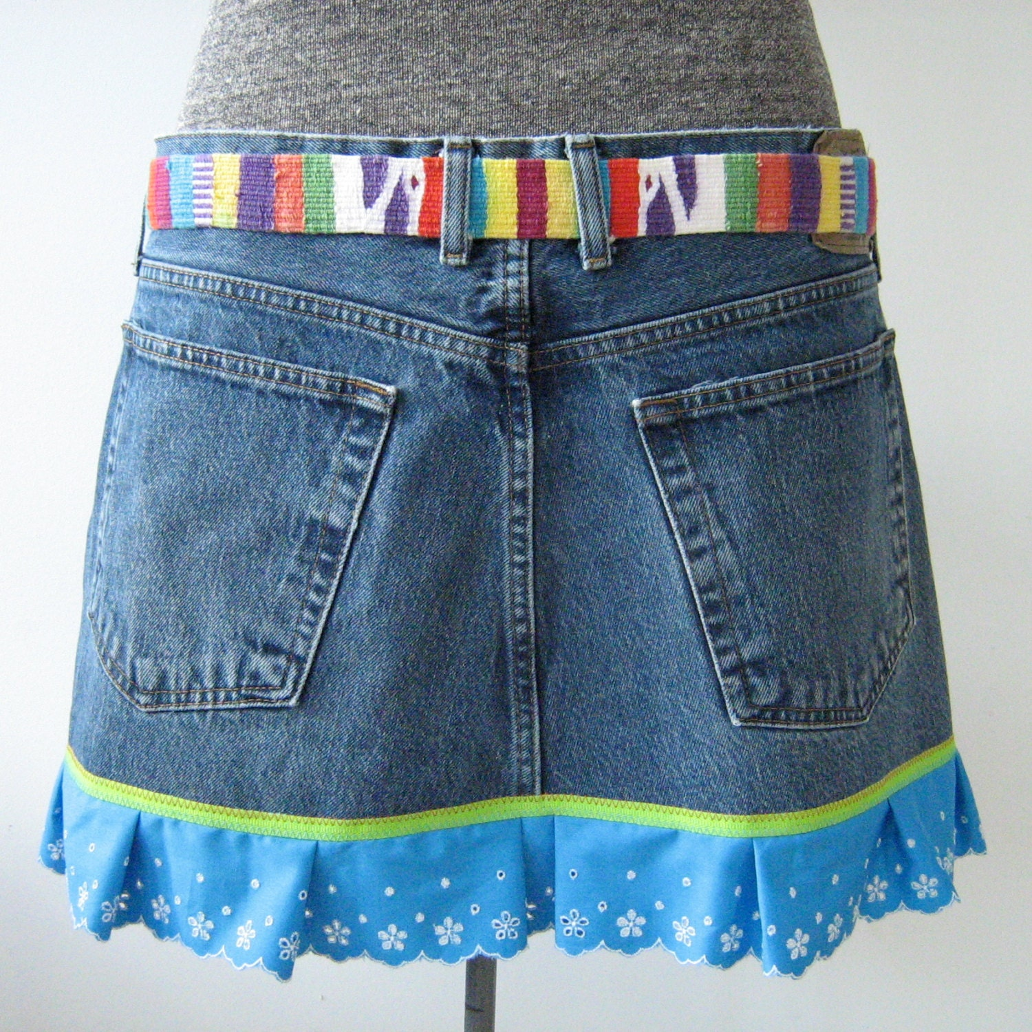 Repurposed Denim Jeans Apron