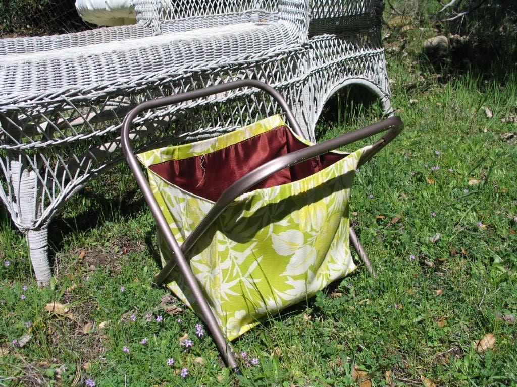 Vintage Folding Knitting Basket : Vintage folding sewing knitting basket by itzvintagedarling