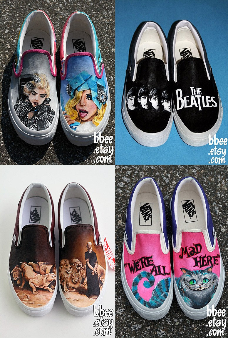 DESIGN YOUR OWN Custom Handpainted Shoes by BBEE on Etsy