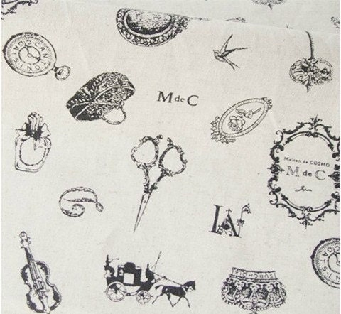 Cotton Linen Fabric Cloth -DIY Cloth Art Manual Cloth Rally Lace Elements   28x19 Inches - JolinTsai