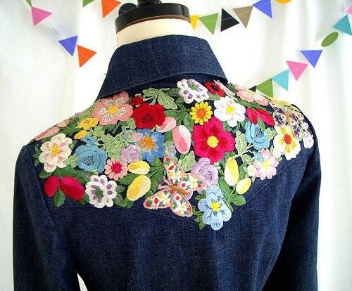 Рубашка своими руками цветы