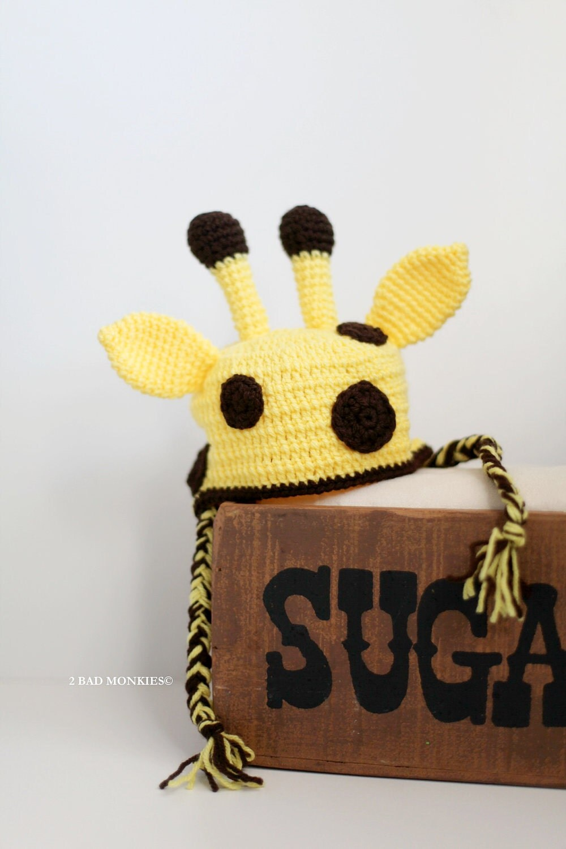Giraffe Hat Newborn Baby Hat, crochet Newborn Hat, Crochet baby Hat Photo Prop