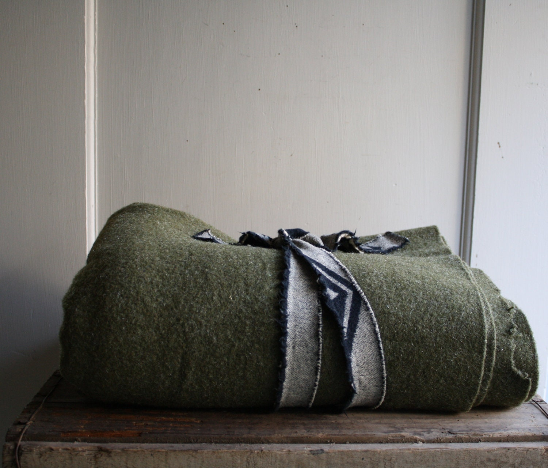 us military wool blanket - littlebyrdvintage
