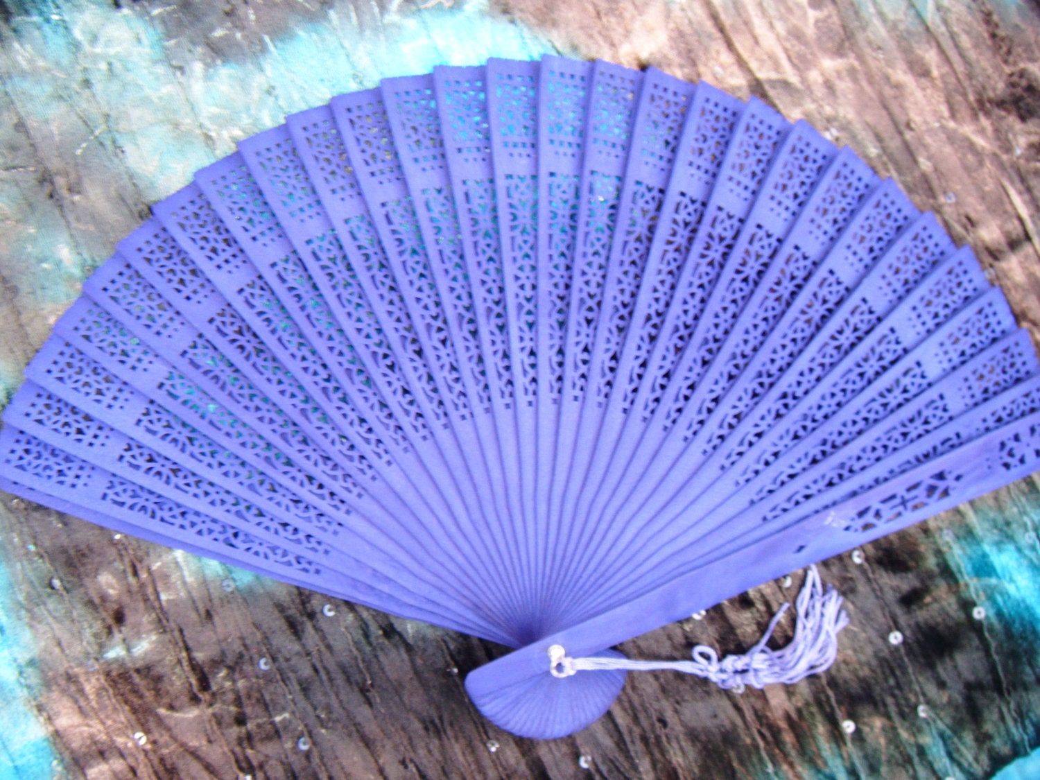 purple spanish hand held fan traditional flamenco by. Black Bedroom Furniture Sets. Home Design Ideas