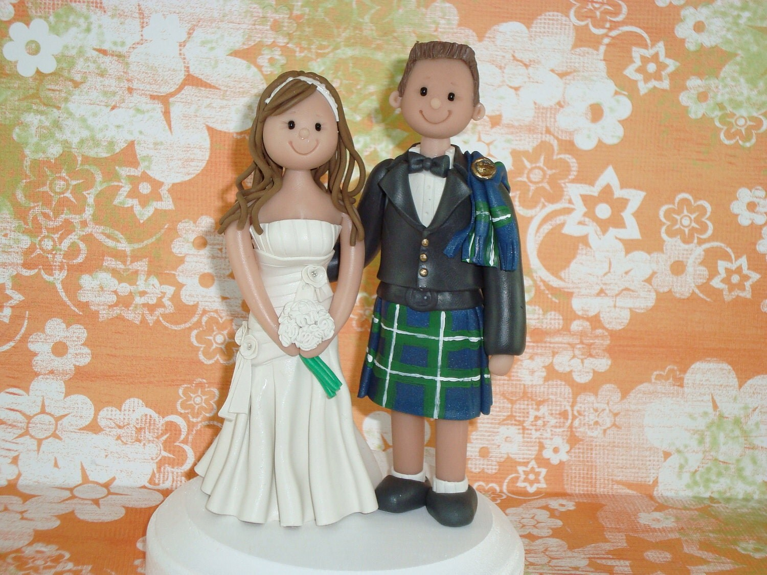 Custom Made Ethnic Couple Cake Topper