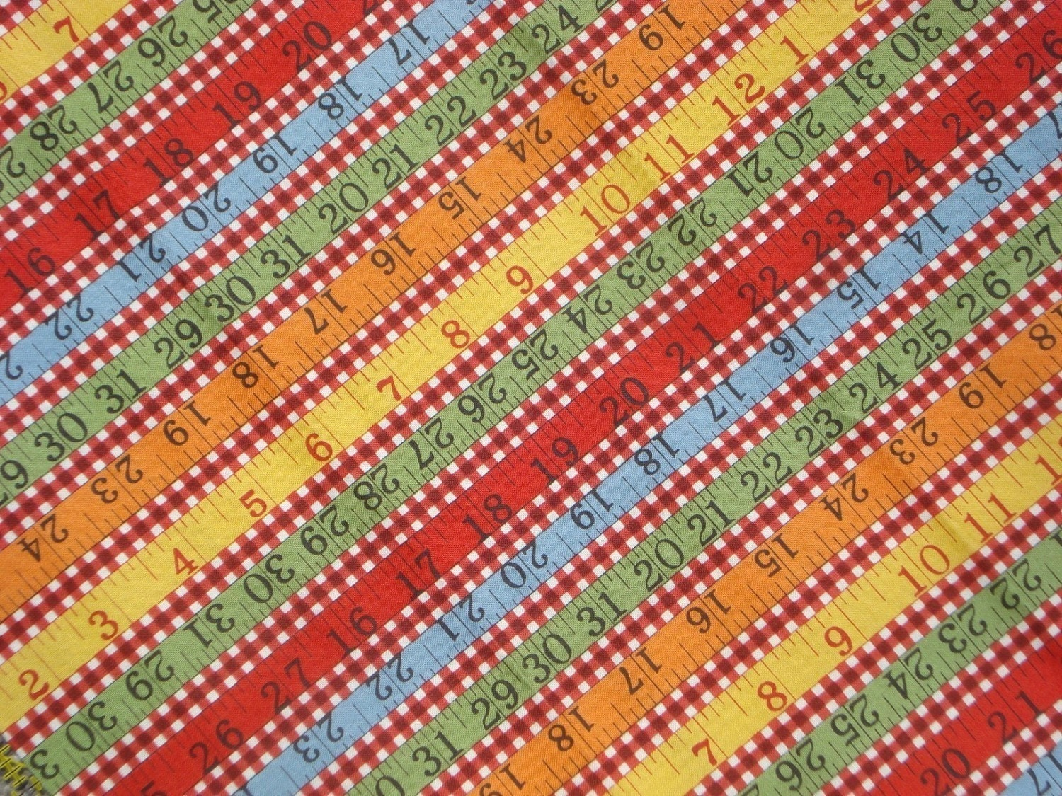 fq or more american jane wee play red check rulers moda fabric