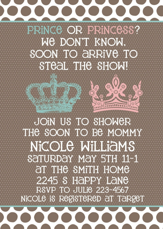 baby shower invitation neutral gender unknown by sweetpeababy