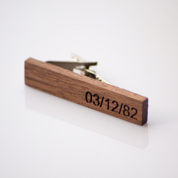 items similar to engraved walnut wood tie bar on etsy