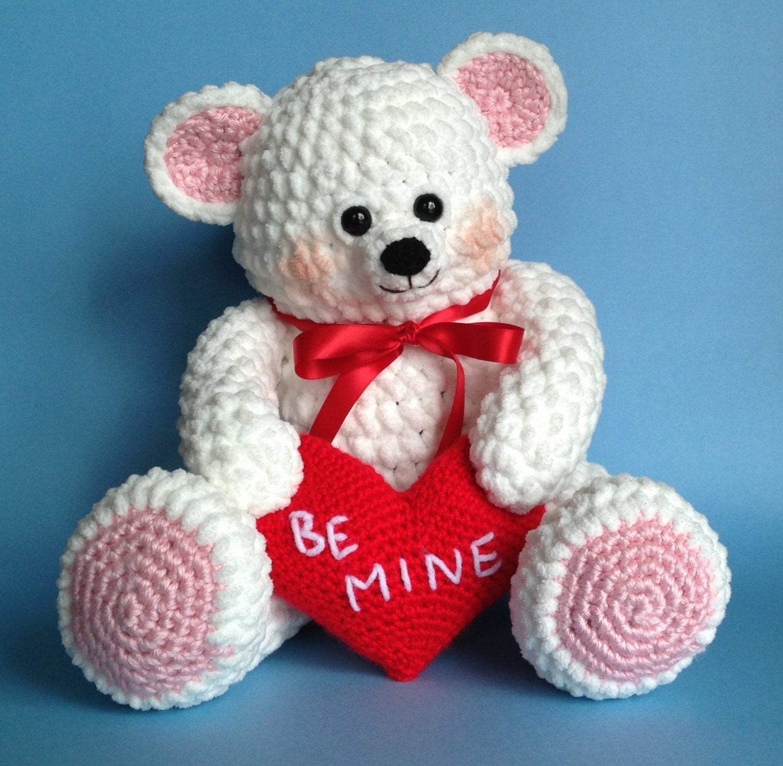VALENTINE TEDDY BEAR Pdf Crochet pattern by bvoe668 on Etsy