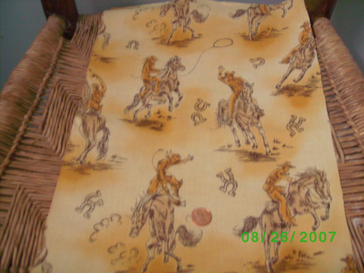 Childrens novelty quilt fabric western theme on by for Childrens quilt fabric