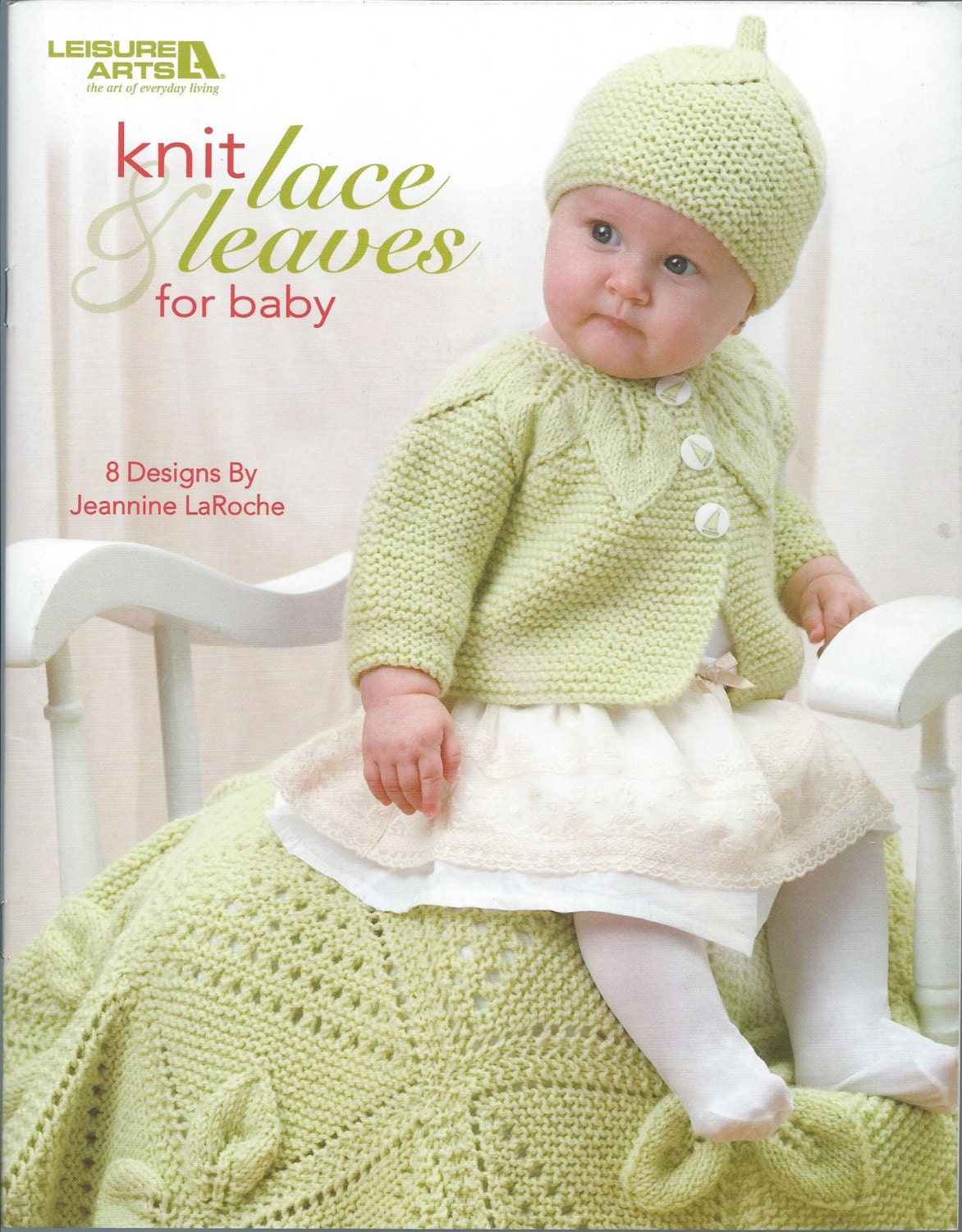 Knitting Books For Babies : Items similar to knit lace leaves for baby knitting book