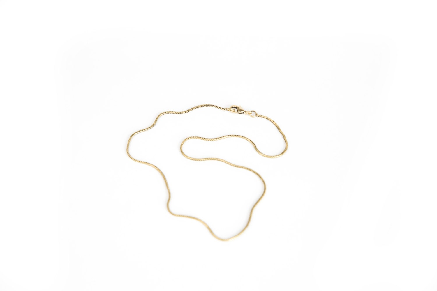 Brass Snake Chain Brass Necklace 16 18 20 21 22 24 26 28 30 36 Thin Brass Chain  Free UK Delivery