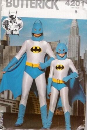 BOYS HALLOWEEN BATMAN SPIDERMAN HERO COSTUME PATTERN S7-14
