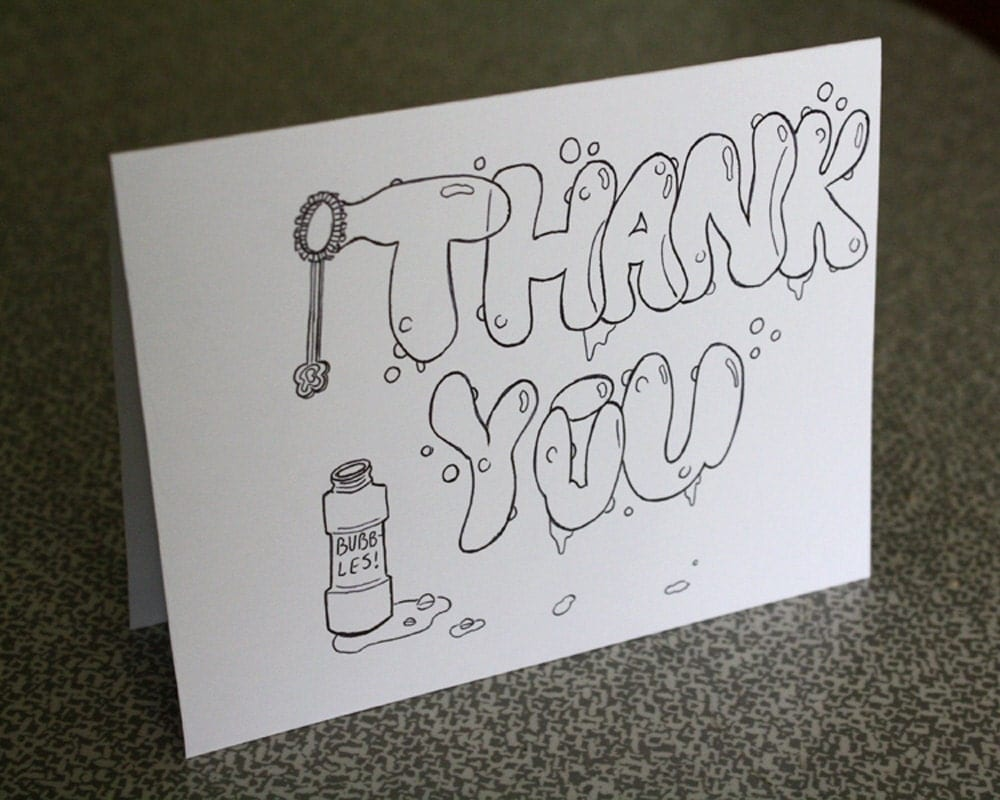 Items similar to Thank You Bubble Letters on Etsy