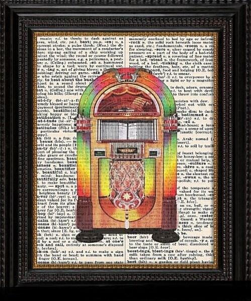 JUKEBOX---Vintage Dictionary Art Print-Fits 8x10 Mat or Frame