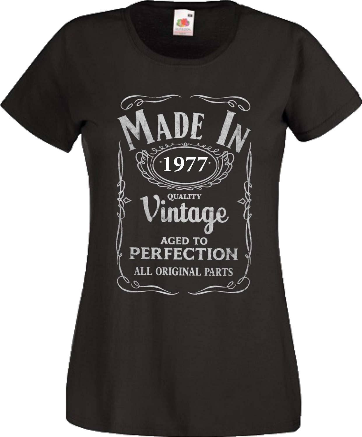 40th Year Birthday T Shirt  Made In 1977 tshirt Age Vintage Gift Women Ladies Top