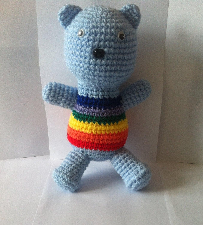Crochet Teddy Amigurumi Teddy Teddy Bear Stuffed Animal Amigurumi Toy Handmade Soft Toy Rainbow Teddy
