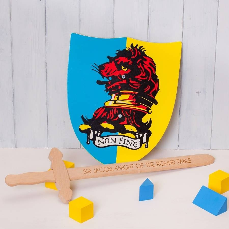Personalised Wooden Toy Sword And Shield
