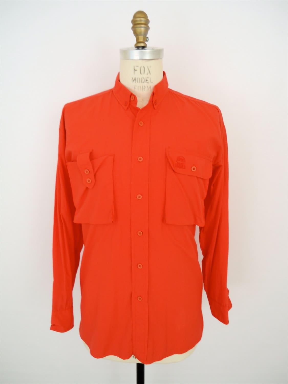 Orvis Fly Fisherman Shirt Neon Salmon Orange By Companyman