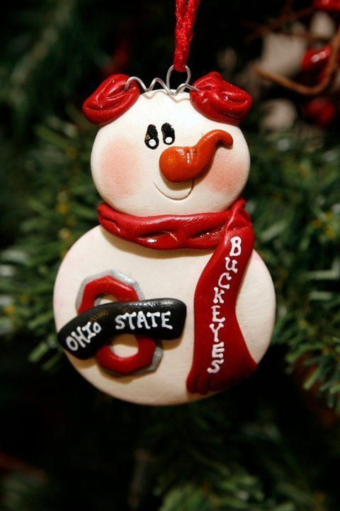 by Buckeyes Ohio State Personalized Snowman MISTYSCLAYCUTIES