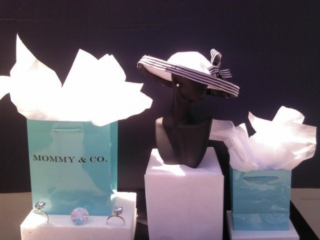 Wedding Gift For Bride Tiffany : Items similar to Tiffanys Inspired Gift Bag for bridal showers, baby ...