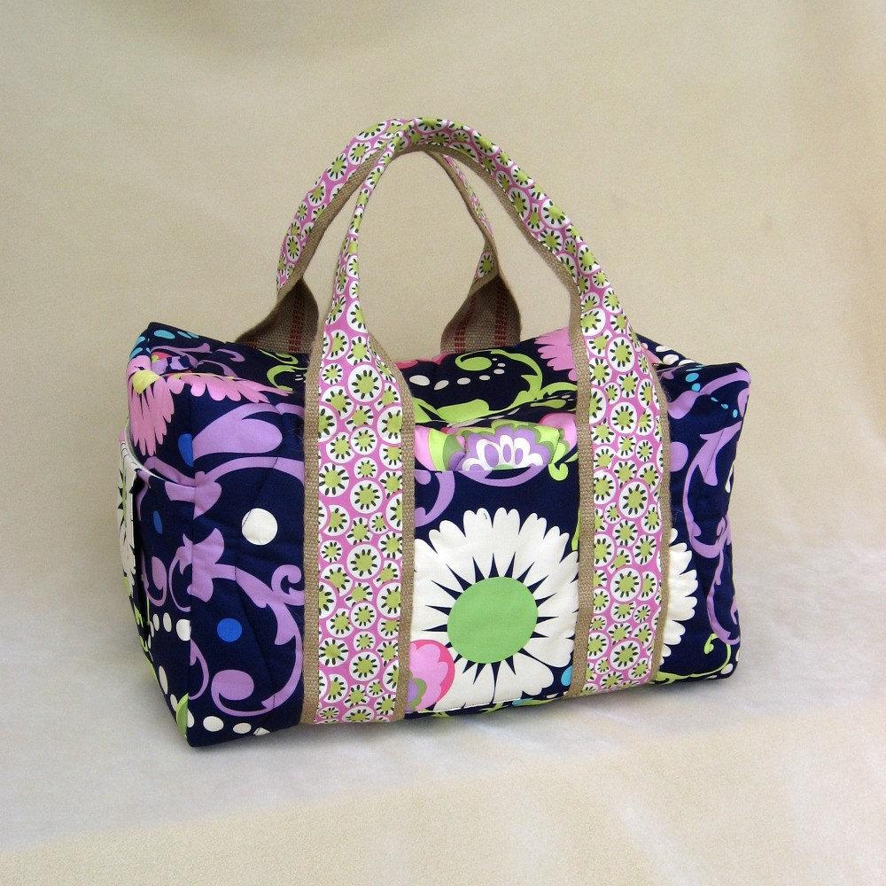 Mod Purple Weekender Duffel Travel Bag Made to order