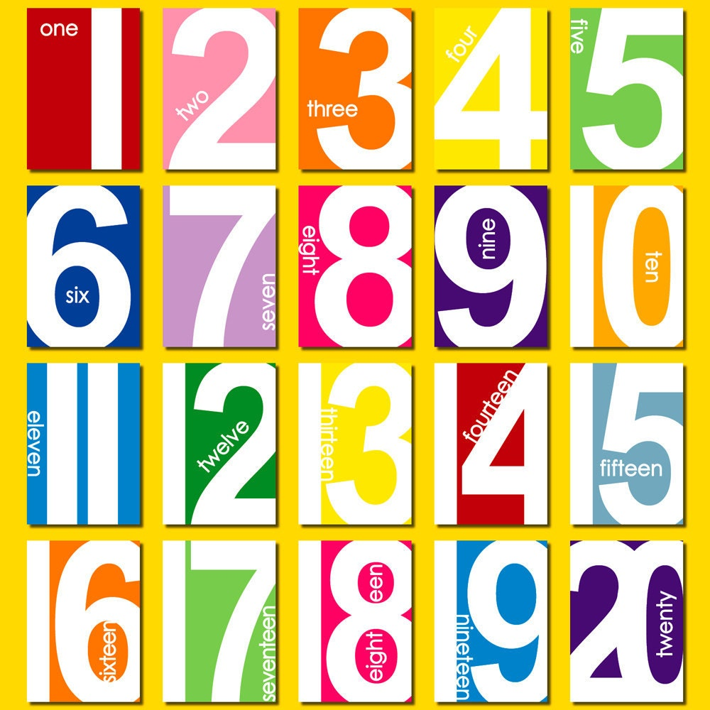 It's just a photo of Trust Printable Numbers 1 20