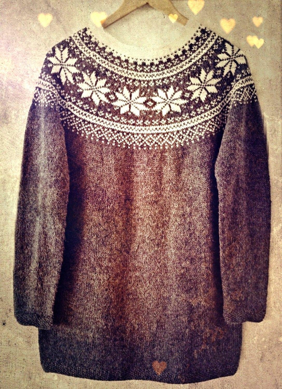 Knitting Pattern Beautiful Norwegian Sweater by silverishmoon