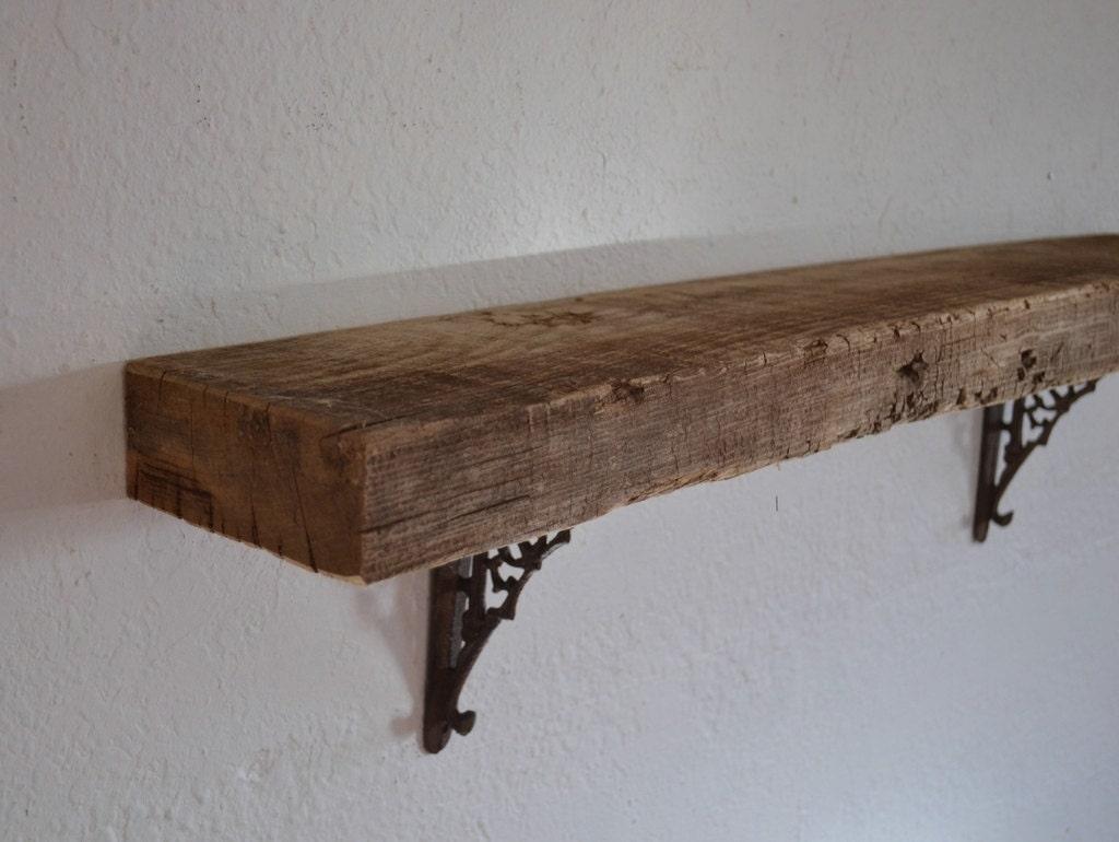 Thick shabby chic wood wall shelf barnwood 33 x 5 x by barnwood4u
