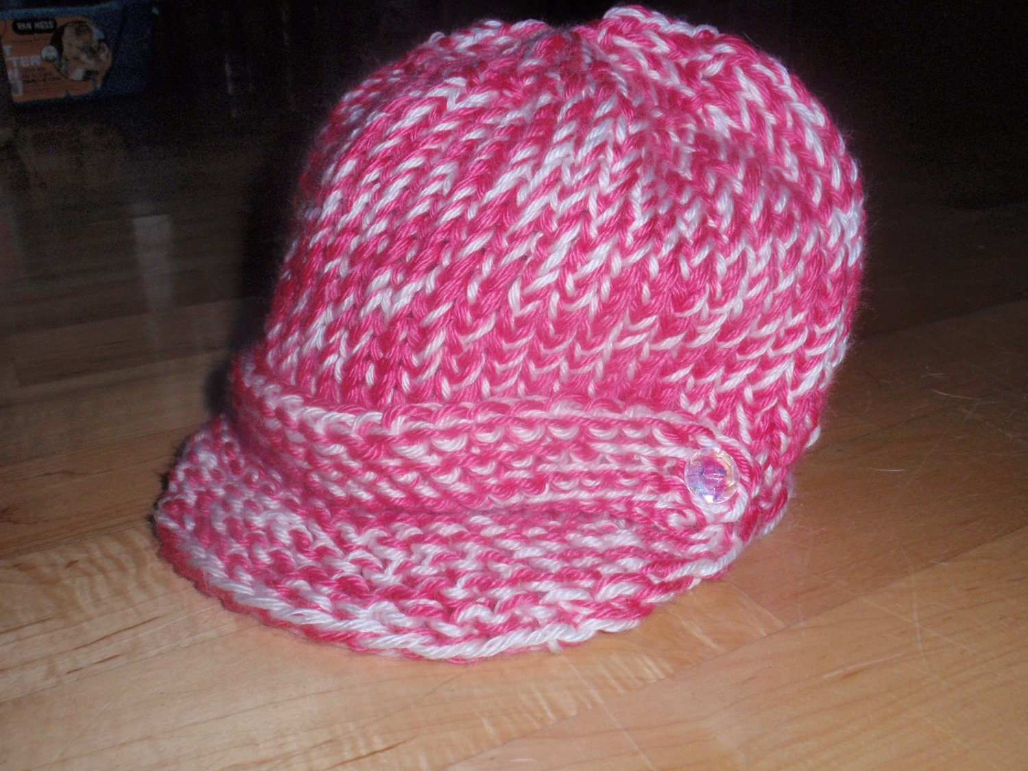 Loom Knit Hat Patterns Free : Pattern for Loom Knit Messenger/Newsboy Hat by Cre8tiveCorner